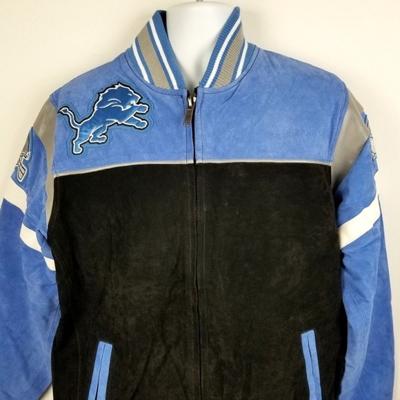 Detroit Lions Suede Leather Jacket coat Small New e95943f5d
